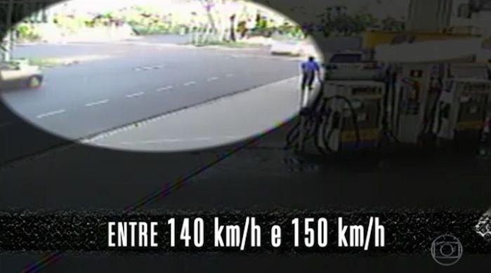 Imagens comprovam velocidade do empresário (Crédito: Reprodução)
