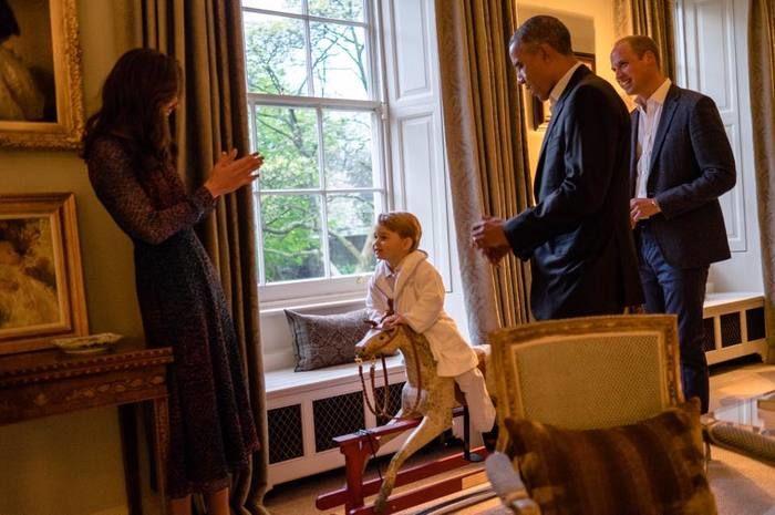Família real com presidente dos Estados Unidos (Crédito: Reprodução)