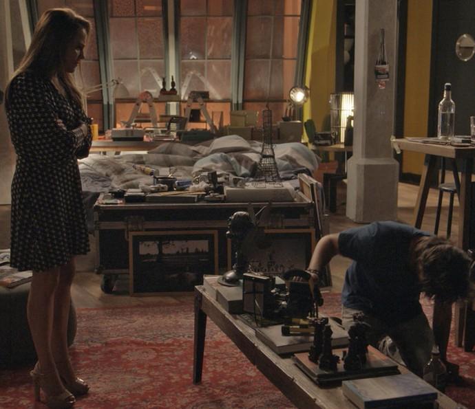 Lili briga com Rafael por fotos com Eliza: 'Tenho nojo de você' (Crédito: Reprodução)