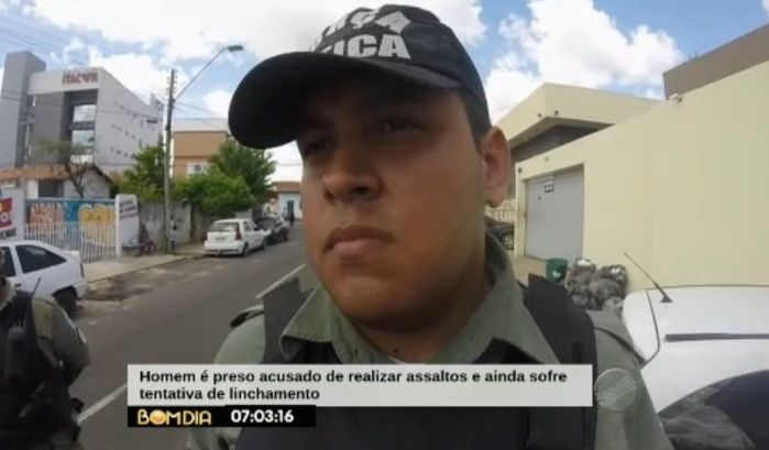 Polícia realizou a prisão do acusado (Crédito: Reprodução/TV Meio Norte)