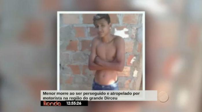 Menor morre ao ser perseguido e atropelado por motorista no Dirceu (Crédito: Reprodução/Rede Meio Norte)