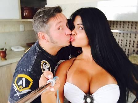 Milena e o marido Alessandro Teixeira