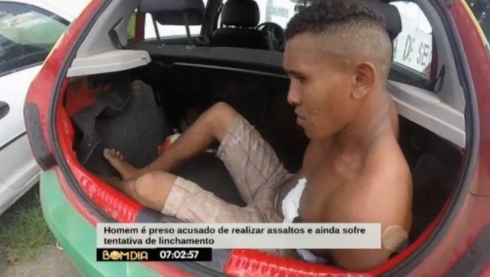Assaltante ficou ferido (Crédito: Reprodução/TV Meio Norte)
