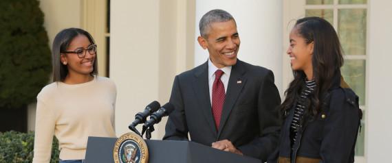 Obama e as filhas
