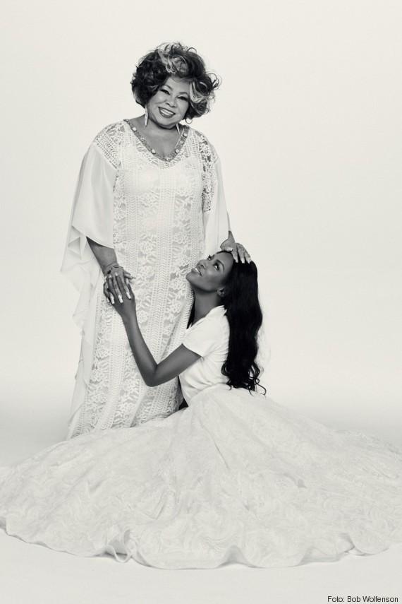 Alcione e Naomi Campbell