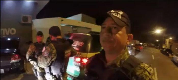 Capitão Sousa Marquês, do 1º Batalhão da Polícia Militar (Crédito: Reprodução/ TV Meio Norte)