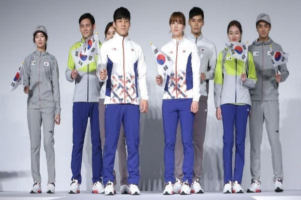 Coreia do Sul apresentou os uniformes para a Olimpíada (Crédito: Getty)
