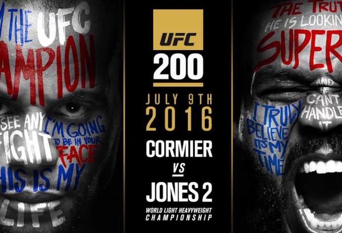 Cartaz oficial de Jon Jones x Daniel Cormier 2 como luta principal do UFC 200 (Crédito: Reprodução)