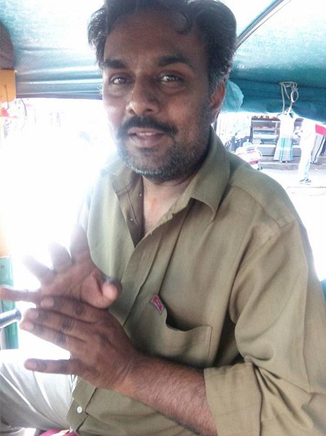 Homem que agrediu verbalmente Aishwarya Subramanian (Crédito: Divulgação)