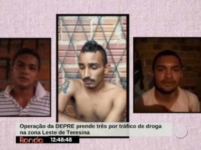 Presos já tem passagens pela polícia  (Crédito: Reprodução TV Meio Norte)