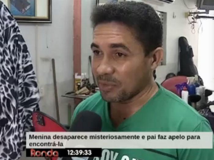 Adão, pai da adolescente desaparecida (Crédito: Reprodução TV Meio Norte)