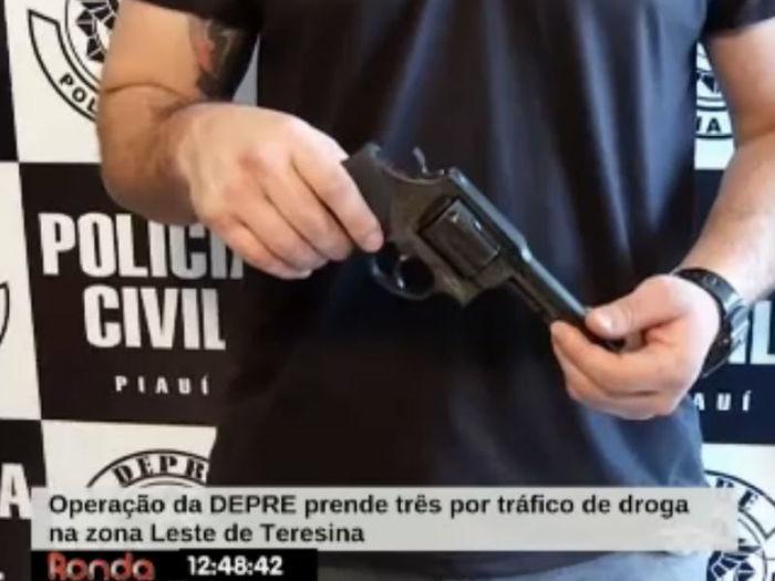 Arma apreendida já foi usada em homicídio  (Crédito: Reprodução TV Meio Norte)
