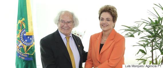 Adolfo Pérez e Dilma (Crédito: Reprodução)