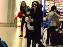 Ana Carolina e Leticia Lima são flagradas em aeroporto no Rio