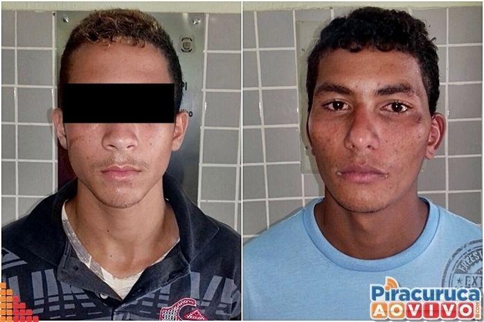 Suspeitos presos (Crédito: Reprodução)