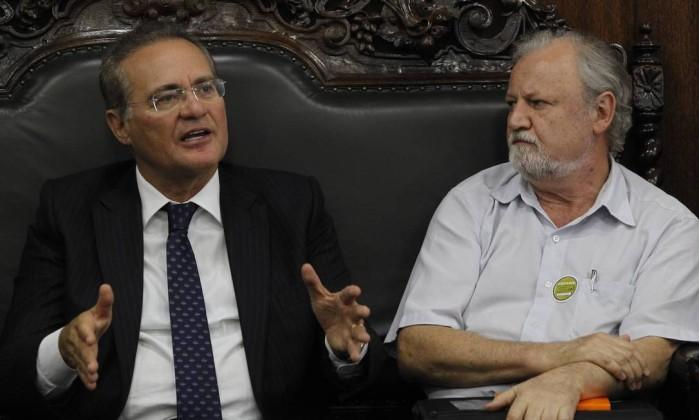 Renan Calheiros e Romero Jucá (Crédito: Reprodução)