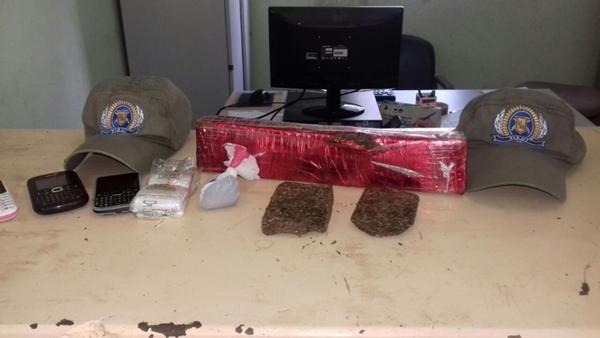 Droga apreendida com os dois acusados em São Raimundo Nonato