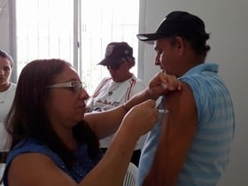 """Hoje foi o dia """"D"""" de vacinação contra o H1N1 em S.A.L"""