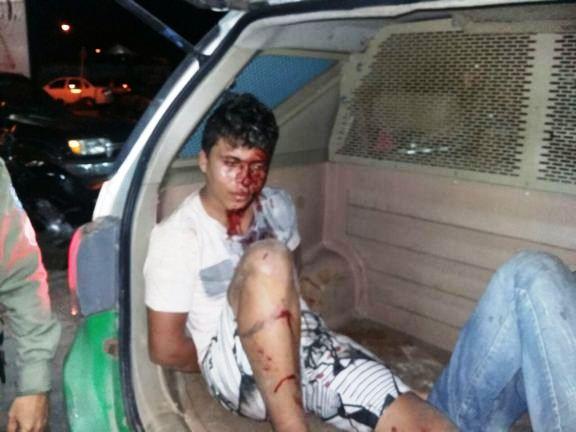 Assaltantes capturados pela polícia (Crédito: Reprodução)