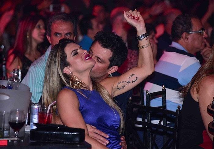Mirella Santos e Wellington Muni (Crédito: Léo Franco / AgNews)