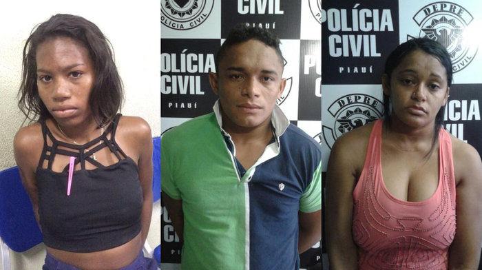 Milane Pereira da Silva, Carla Daniele Sousa Vaz, e de um homem d Caique de Sousa Firmino