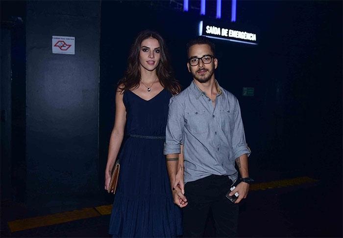 Júnior Lima e esposa  (Crédito: Léo Franco / AgNews)