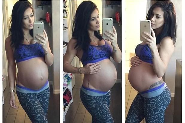 Bella Falconi grávida (Crédito: Reprodução)