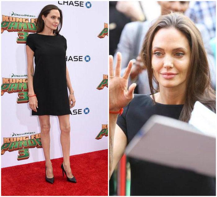 Angelina em pré estreia (Crédito: Reprodução)