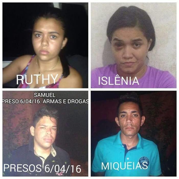 Os quatro foram presos no bairro Morada Nova, Zona Sul de Teresina
