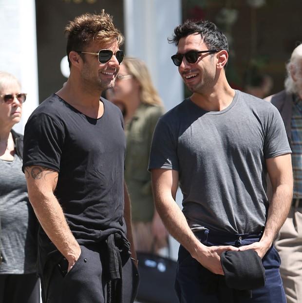 Ricky Martin  ao lado de Jwan Yosef