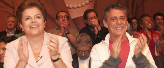 Dilma e Chico Buarque  (Crédito: Reprodução)