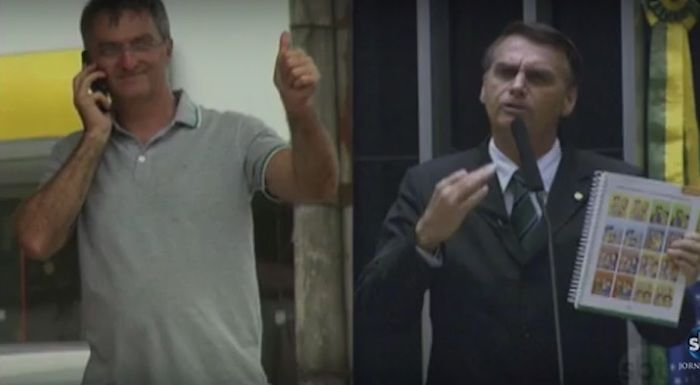 Renato Bolsonaro e Jair Bolsonaro (Crédito: Reprodução)