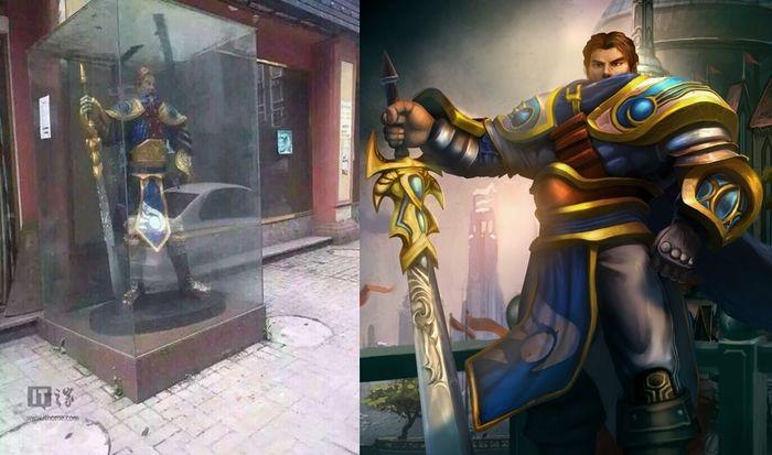 Estátua do Personagem Garen de League Of Legends (Crédito: Edição Gabriel Ramadon)