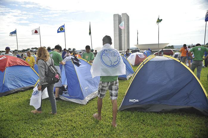 Acampamentos na Esplanada dos Ministérios estão proibidos (Crédito: Agência Brasil)