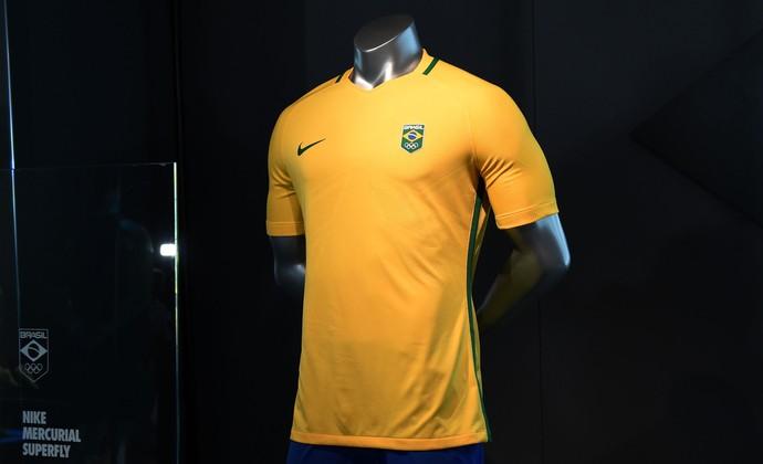 Uniformes do futebol olímpico do Brasil 2016 são lançados d1fe9b88a3a59