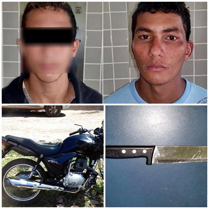 Os dois acusados capturados em Piracuruca (Crédito: Piracurucaaovivo)