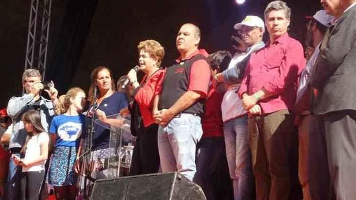 Presidente Dilma durante ato promovido pela CUT