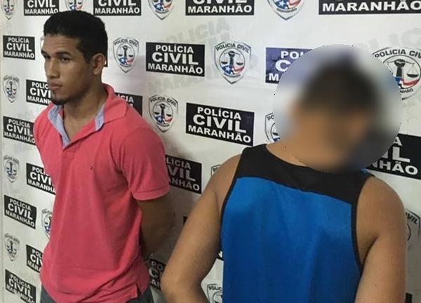 O acusado Arlon Cristian e o menor  de 14 anos