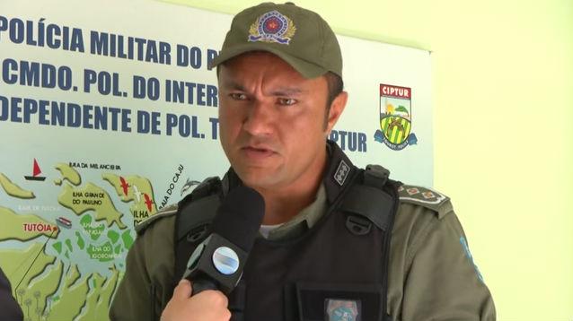 Capitão da Polícia Militar Lucas Robert (Crédito: Reprodução/ Rede Meio Norte)