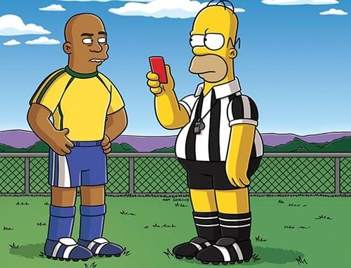 Homer Simpson e Ronaldo (Crédito: Reprodução)
