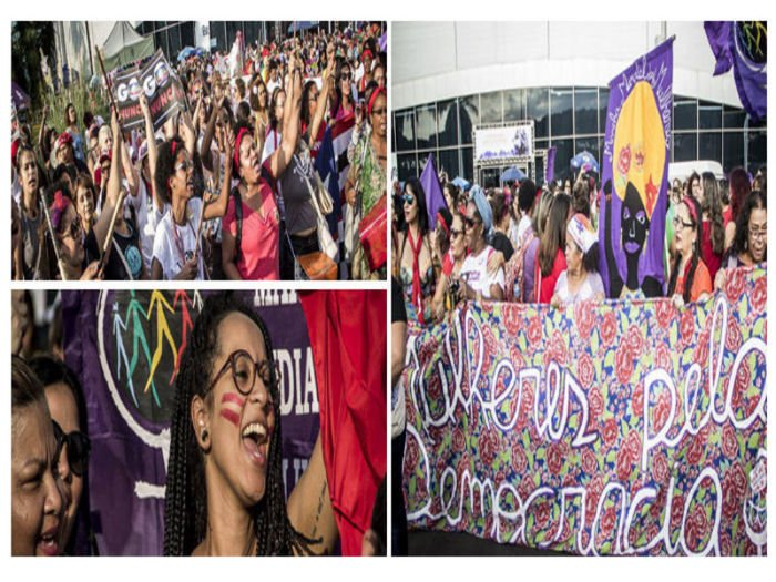 Cerca de 3 mil mulheres participaram do ato
