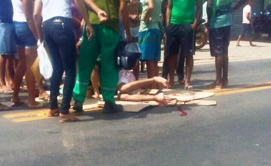 Homem foi atropelado  (Crédito: Campo Maior em Foco )