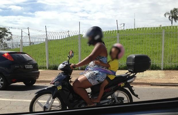 SAMU atendeu mais de 30 crianças e adolescentes vítimas de acidente de moto (Crédito: Reprodução)