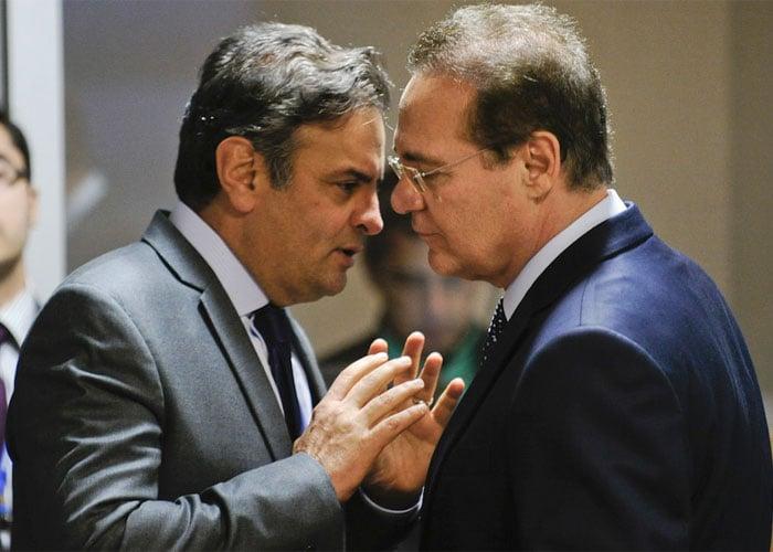 Aécio Neves e Renan: na mira da Justiça  (Crédito: Divulgação)