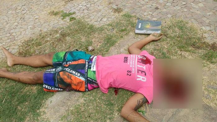 Vítima ia para a escola quando foi baleada (Crédito: Reprodução)