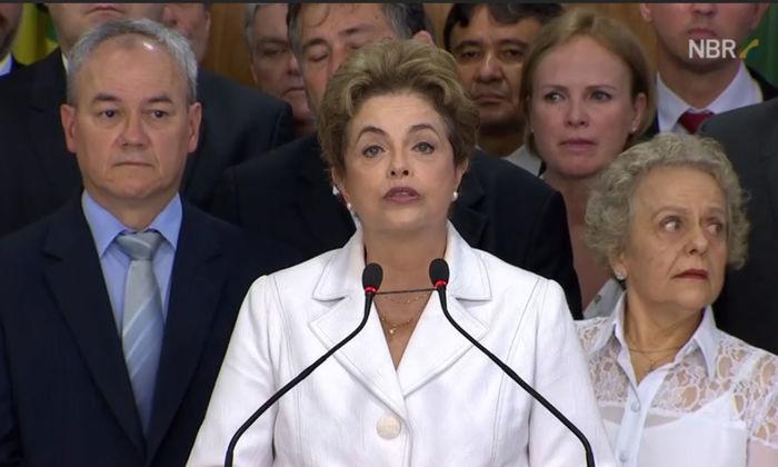 Dilma Rousseff em pronunciamento (Crédito: Reprodução)
