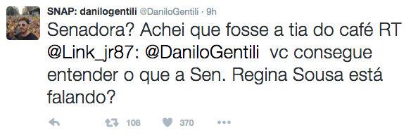 Gentili chama senadora do PI de 'tia do café' e causa polêmica (Crédito: Reprodução)