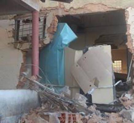 Agência destruída (Crédito: Plantão Policial PI)