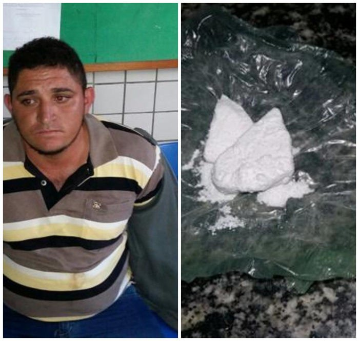 Cocaína apreendida com Rogério Quirino (Crédito: Divulgação)