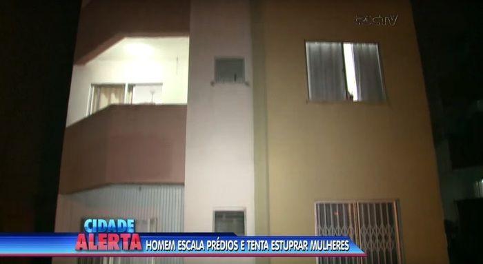 Tarado escalou prédio para atacar vítimas (Crédito: Reprodução)